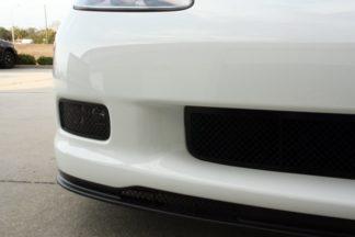 Driving Light Covers Laser Mesh Black Stealth 2pc Z06 |2005-2013 Chevrolet Corvette