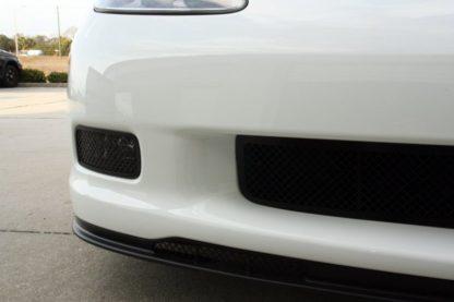 Driving Light Covers Laser Mesh Black Stealth 2pc Z06  2005-2013 Chevrolet Corvette