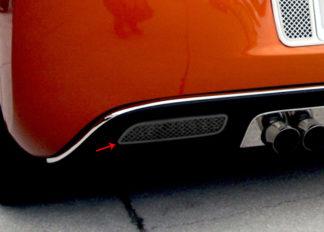 Reverse Light Covers Laser Mesh Black Stealth 2pc |2005-2013 Chevrolet Corvette
