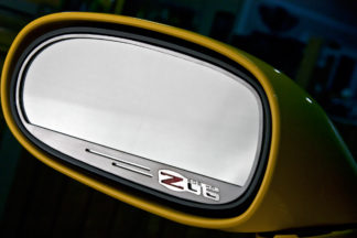 Mirror Trim Side View Z06 Style Auto Dim 2pc GML |2008-2019 Dodge Challenger