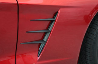 Vent Spears w/Perforated Vents 8pc C6 Black Stealth |2005-2013 Chevrolet Corvette