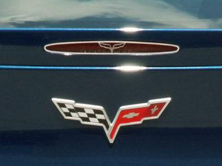 5th Brake Light Trim Crossed Flags Style GML |2005-2013 Chevrolet Corvette