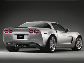 Taillight Trim Rings Executive Style Polished 4pc w/Emblems |2005-2013 Chevrolet Corvette
