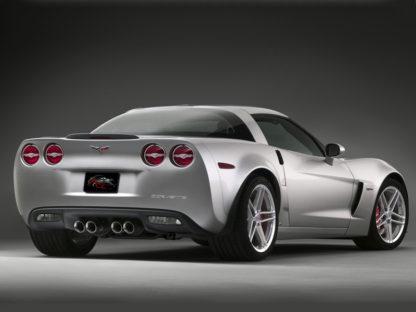 Taillight Trim Rings Executive Style Polished 4pc w/Emblems  2005-2013 Chevrolet Corvette