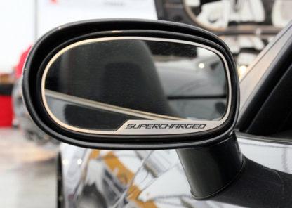 Mirror Trim Side View Supercharged Style Auto Dim 2pc GML  2005-2013 Chevrolet Corvette