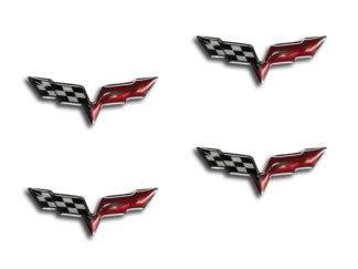 Taillight C6 Crossed Flag Emblems 2pc |2005-2013 Chevrolet Corvette