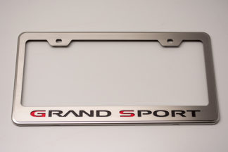 Rear Tag Frame Grand Sport Logo GML |1953-2017 Chevrolet Corvette