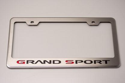 Rear Tag Frame Grand Sport Logo GML  1953-2017 Chevrolet Corvette
