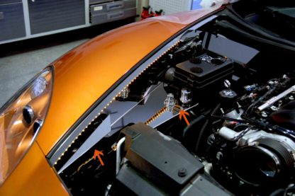Inner Fender Liner Polished Component 8pc Illum. Yellow LED  2005-2013 Chevrolet Corvette