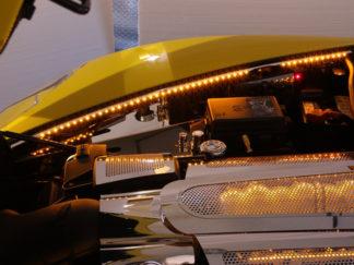 Fender Caps Polished 2pc Illum. Yellow LED |2005-2013 Chevrolet Corvette