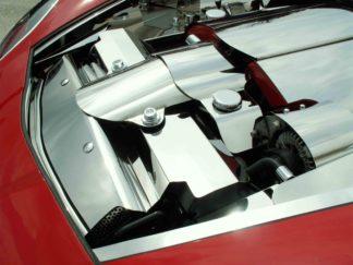 Radiator Cover Polished Component 2pc 05-07 |2005-2012 Chevrolet Corvette