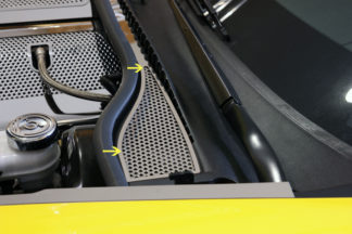Wiper Cowl Perforated 2pc |2008-2013 Chevrolet Corvette