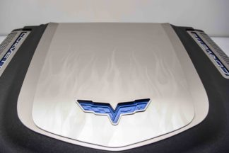 Engine Shroud Cover ZR1 2pc Flame Etched |2009-2013 Chevrolet Corvette