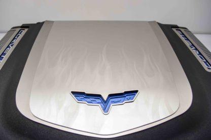Engine Shroud Cover ZR1 2pc Flame Etched  2009-2013 Chevrolet Corvette