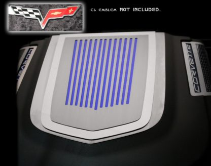Engine Shroud Cover ZR1 2pc Ribbed C6 Emblem (not included)  2009-2013 Chevrolet Corvette