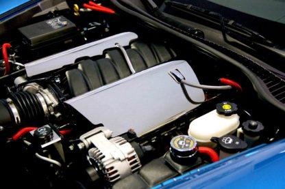 Fuel Rail Covers Polished Replacement w/cap LS7  2006-2013 Chevrolet Corvette
