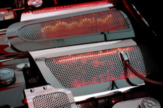 Fuel Rail Covers Perforated Replacement w/cap LS7 Illum. Red LED |2006-2012 Chevrolet Corvette