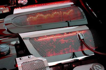 Fuel Rail Covers Perforated Replacement w/cap LS7 Illum. Red LED |2006-2012 Chevrolet Corvette