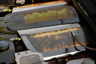 Fuel Rail Covers Perforated Replacement w/cap LS7 Illum. Yellow LED |2006-2012 Chevrolet Corvette
