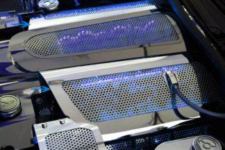 Fuel Rail Covers Perforated Replacement w/cap LS7 Illum. Blue LED |2006-2012 Chevrolet Corvette