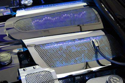 Fuel Rail Covers Perforated Replacement w/cap LS7 Illum. Blue LED  2006-2012 Chevrolet Corvette