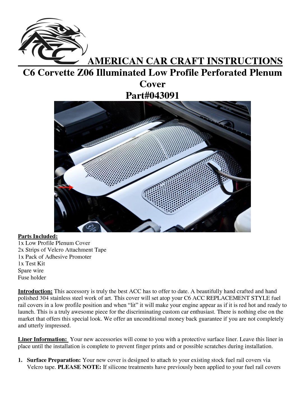 043088 |2006-2012 Chevrolet Corvette