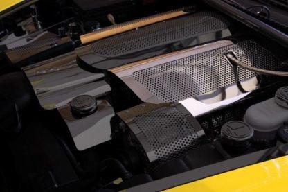 Fuel Rail Covers Perforated Replacement w/cap C6 05-07  2005-2007 Chevrolet Corvette