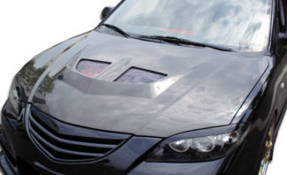 2004-2009 Mazda 3 4DR Carbon Creations EVO Hood - 1 Piece