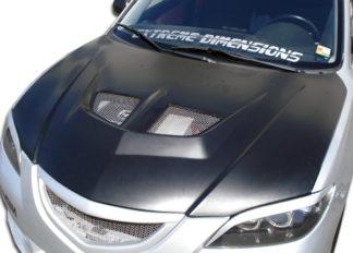 2004-2009 Mazda 3 4DR Duraflex Evo Hood - 1 Piece