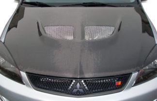 2004-2007 Mitsubishi Lancer Carbon Creations Evo Hood - 1 Piece