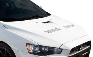2008-2017 Mitsubishi Lancer / Lancer Evolution 10 Duraflex Evo X Look Hood - 1 Piece