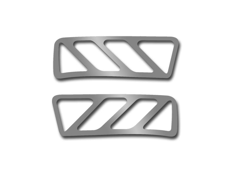 ACC Upper Dash A//C Vent Trim fits 2010-2015 Chevy Camaro-Stainless Steel//Brushed