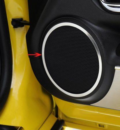 Speaker Trim Polished Front Door 2pc 2010-2013 Chevrolet Camaro