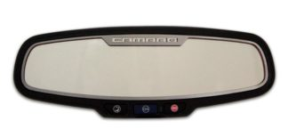 "Mirror Trim Rear View Satin ""Camaro Style"" Oval  NO SENSOR 2010-2014 Chevrolet Camaro"