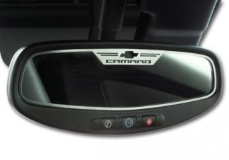 "Mirror Trim Rear View Satin ""Camaro Style"" Oval  WITH SENSOR 2010-2014 Chevrolet Camaro"