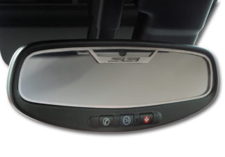 "Mirror Trim Rear View Satin ""SS Style"" Oval WITH SENSOR 2010-2014 Chevrolet Camaro"