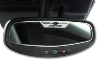 "Mirror Trim Rear View Satin ""RS Style"" Oval WITH SENSOR 2010-2014 Chevrolet Camaro"