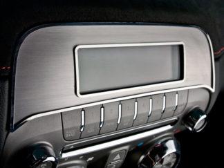 Radio Trim Plate Satin/Polished for Factory Radio 2010-2015 Chevrolet Camaro