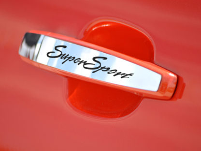 "Door Handle Plate Polished Exterior ""Super Sport"" 2pc 2010-2015 Chevrolet Camaro"