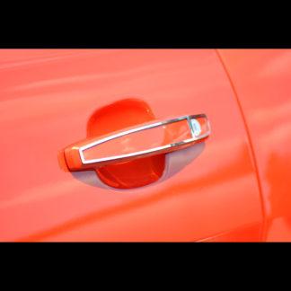 Door Handle Trim Polished Exterior 2pc 2010-2015 Chevrolet Camaro