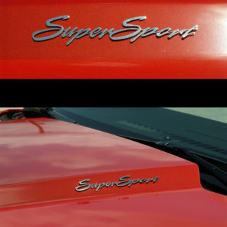 "Exterior Badges Polished ""Super Sport"" 2pc 2010-2015 Chevrolet Camaro"
