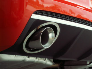 Exhaust Trim Rings Polished Full Oval w/Polished Exhaust Tips 2010-2013 Chevrolet Camaro