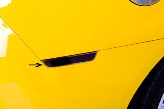 Side Marker Black Out Kit w/Satin Trim Rings 8pc 2010-2013 Chevrolet Camaro