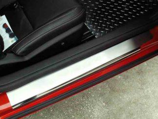 Doorsills Polished Satin Plain Style 2pc 2010-2013 Chevrolet Camaro