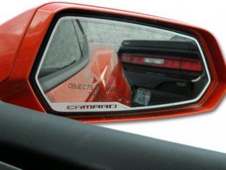 """Mirror Trim Side View Satin """"Camaro Style"""" 2pc 2008-2019 Dodge Challenger2010-2013 Chevrolet Camaro"""