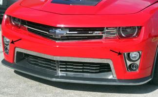 Fog Light Trim Kit Polished 8pc ZL1 2012-2013 Chevrolet Camaro