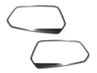 Mirror Trim Side View Satin Supercharged Style 2pc 2008-2019 Dodge Challenger2010-2013 Chevrolet Camaro
