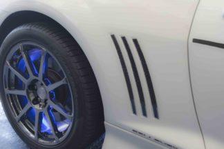 Rear Side Fender Vent Grille Real Carbon Fiber Inserts Polished Trim 2010-2013 Chevrolet Camaro