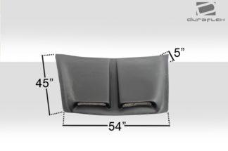 Universal Duraflex Spyder Hood Scoop - 1 Piece