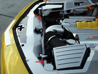 Radiator Cap Satin works w/103033 Offset Fill Hole 2010-2015 Chevrolet Camaro